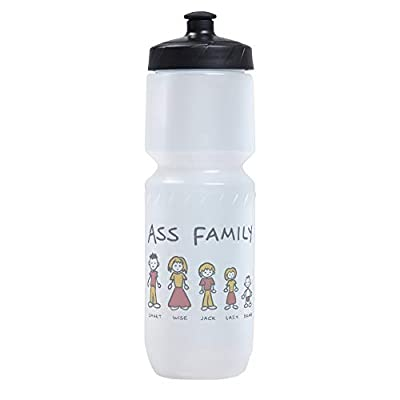 Sports Beverage Water Cycle Bottle Ass Family Smart Wise Jack Lazy Dumb
