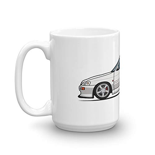 (Ford Escort Mk.5 RS Cosworth Diamond White. 15 Oz Ceramic Glossy Gift For Coffee Lovers Quote Mug Gifts For Men &)