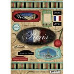 Scrapbook Customs - World Collection - France - Cardstock Stickers - Travel - (Paris Stock)
