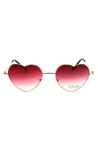 Gradiente Color Sol De De Gafas De Rose Moda De En Gafas Las Corazon Mujeres Precioso Forma F7qw6xpH