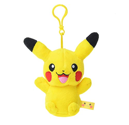 SHDZKJ Pikachu Plush Keychain Pikachu Plush Toys Stuffed Toys (Pokemon Clip Backpack)