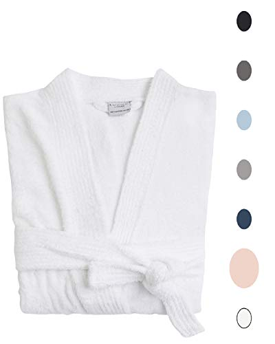 Luxor Linens - Terry Cloth Bathrobe in a Variety of Colors - 100% Egyptian Cotton - Luxurious, Soft, Plush Durable Robe - Pink