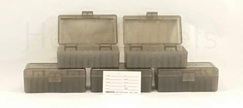 BERRY'S Plastic Ammo Box, Smoke 50 Round 38/357 (5)