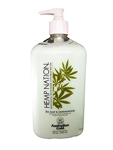Hemp Nation SEA SALT & SANDALWOOD (18 fl. oz / 535 mL), Moisturizing Tan Extender with Hemp Seed Oil