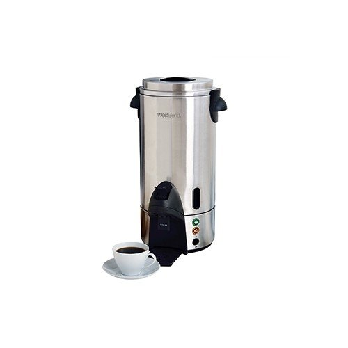 "Focus Foodservice 54100 Contemporary Coffee Maker, Stainless Steel, 100 Cups, 1500 Watts, 120V, 60Hz, 25-7/8"" x 13-1/2"" x 13-3/8"""