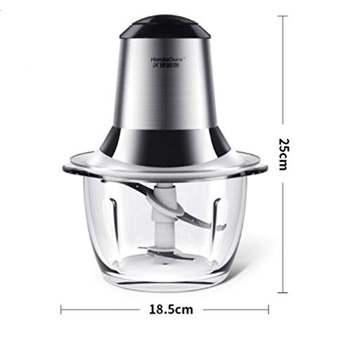 TOPCHANCES 200W Electric Meat Grinder Mixer Chopper Machine Meats Mincer Vegetable Fruit Mixer Chopper Sausage Maker Butcher and 2 Blades - 220V (Transparent Bowl) by TOPCHANCES (Image #2)