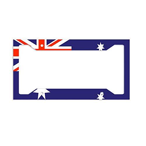 Australia Flag License Plate - luckmx License Plate Frame Metal License Plate Holder Car Tag Frame-Australia Flag