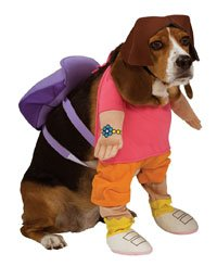 Rubies Dora The Explorer Pet Costume, (Homemade Dog Halloween Costume Ideas)
