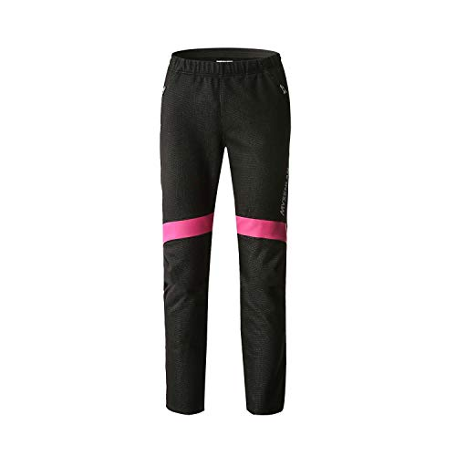 (Mysenlan Womens Winter Outdoor Windproof Warm Pant for Snow Hiking Ski Cycling Fleece Thermal Long Pants Riding)