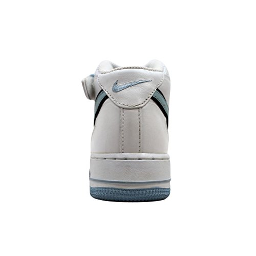 Nike Air Force 1 Baskets Mi Blanc / Glace Bleu-noir