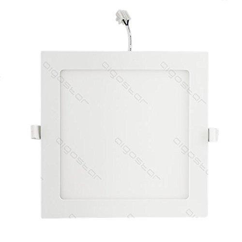 lineteckled® a05.003.12N Panel LED cuadrado de empotrar con bordo blanco 12W luz natural 4000K 220V IP20transformador integrado