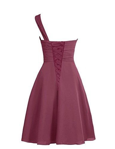 CoutureBridal - Vestido - Una manga - para mujer Rojo