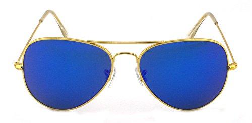 de Gold Lens Blue soleil Lunettes Frame Homme Outray 6HxAw5qP
