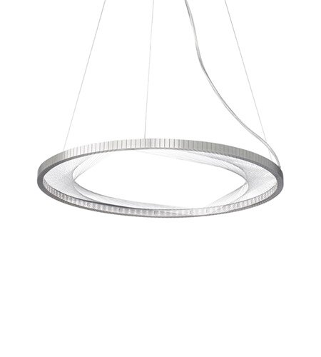 Lbl Led (LBL SU767SCLED, Interlace Large Round Pendant, 1 Light LED, Nickel)