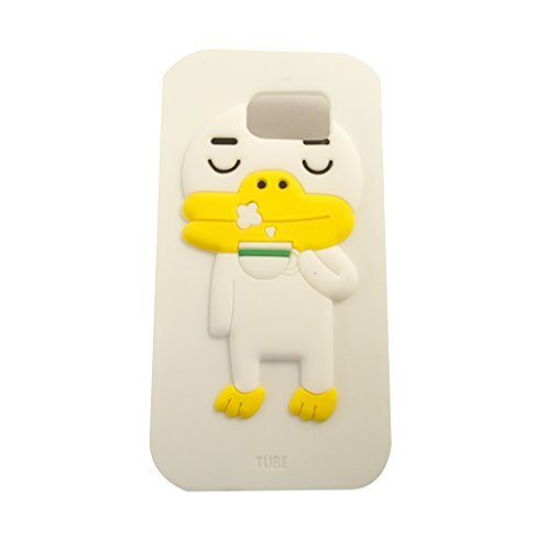 Kakao Friends Emoticon Character Samsung Galaxy S6 (Silicon, Soft, Protective Case Cover) (Easy Frodo Costume)