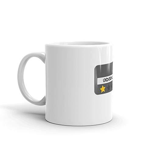 (McDonald's Spoof Employee Underachiever badge 11 Oz White Ceramic)