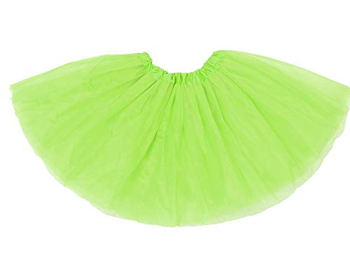 Solaris Youth Tulle Tutu 3 Layered Princess Mini Skirt for Ballet, Dress Up Costume Party, Running