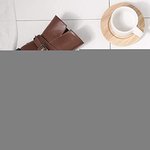 Flat Flat Heel Platform Marrone da Solette Moto Martin Equitazione Equitazione Donna Cavallo da da Zippe Winter Stivaletti 7 Nero Retro Tactical UK 3 Size Militare Colore Scarpe Desert 3 Dimensione Donna wfUTZHq