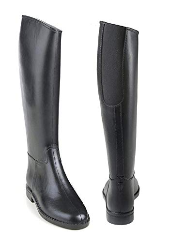 EquiStar Ladies Cadet Flex II Rubber Tall Riding Black Boots with Elastic Insert, 39 (8 US)