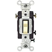Leviton 3-Way Lighted Grounding Ac Quiet Toggle Switch (836-05503-LHI)