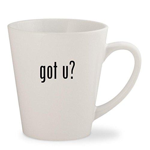 got u? - White 12oz Ceramic Latte Mug Cup
