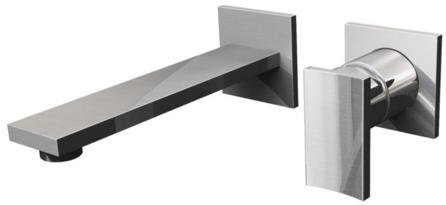 Targa Wall - Graff G-3635-LM36W-SN-T - Targa Wall-Mounted Lav Faucet w/Single Handle - Trim Only - Steelnox