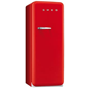 Smeg FAB28RR1 combi-fridge - combi-fridges (Freestanding, Red, Top ...