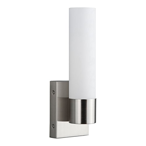 Perpetua Integrated LED Bathroom Wall Sconce | Brushed Nickel Vanity Light Fixture LL-SC941-BN