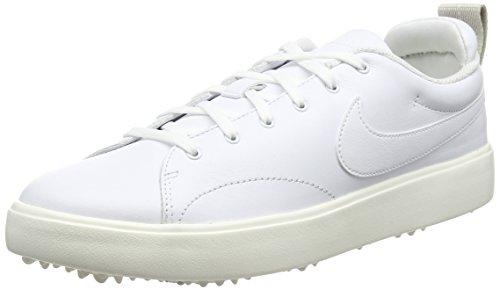 Nike Men's Course Classic Golf Shoes (Medium) (12 M, White/White/Sail/Black)