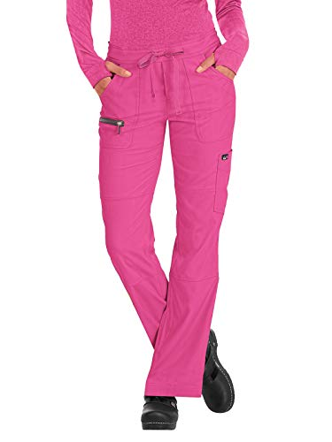 (KOI Lite 721 Women's Peace Scrub Pant (Flamingo/Steel, XX-Small))