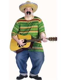 Three Amigos Costumes Plus Size - Mexican Serape Adult Costume - Plus