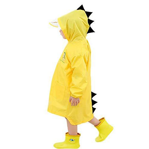 (Raincoat for Kids Rain Jacket Age 4-7 Cute Dinosaur Shaped Child's Funny Lightweight Outdoor Cartoon Rain Wear Slicker for Boys for Girls [M Size])