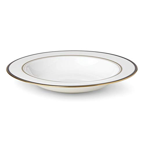 kate spade New York 871086 Library Lane Black Pasta Rim Soup