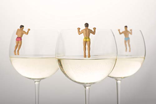 NPW Drinking Buddies Cocktail/Wine Glass Markers, 6-Count, Classic by NPW-USA (Image #6)