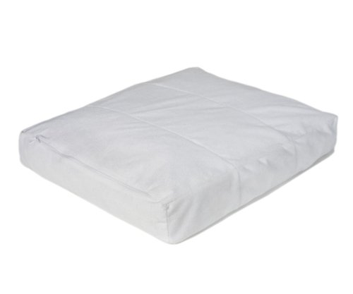 Pet Dreams Waterproof Pet Bed Cover Fits Ortho-Bliss Memory Foam Bed, White,  48 by 36 by 3-Inch, White, XX-Large, My Pet Supplies