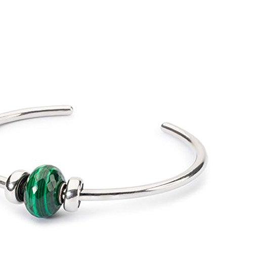 Trollbeads 925Vert malachite Pierre Perle Bracelet Bracelet Argent sterling Wishful S