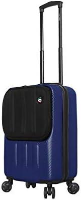 Mia Toro Italy Reggia Hard Side Spinner Carry-on Blue