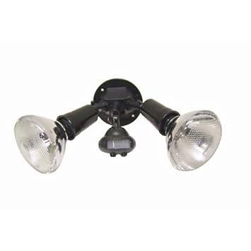 cooper lighting 110 degree motion detector floodlight black - Motion Detector Lights