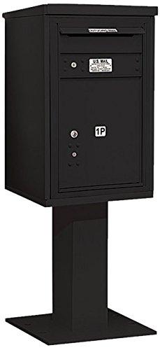 Salsbury Industries 3407s-1pblk 4 C Pedestalメールボックス、ブラック   B005HDZ4OW
