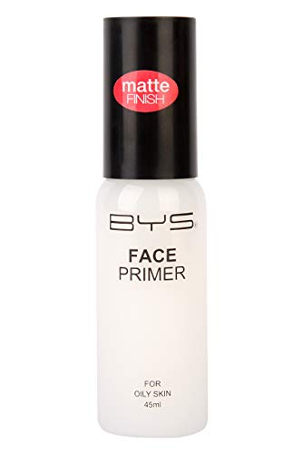 BYS Face Primer Pump Bottle For Oily Skin - Prime Prep skin oil free matte base Aloe Vera nourish and soothe Witch Hazel to help tighten pores and improve the skins appearance