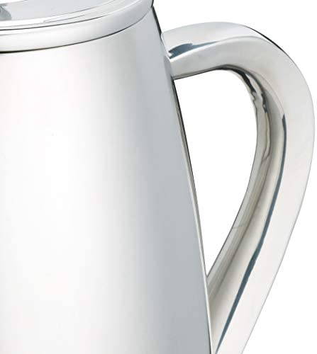 1l Le'xpress Double Walled Stainless Steel Eight Cup Cafetiere