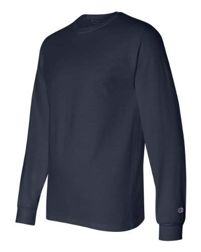 Champion Adult Tagless Long-Sleeve T-Shirt, Navy, X-Large