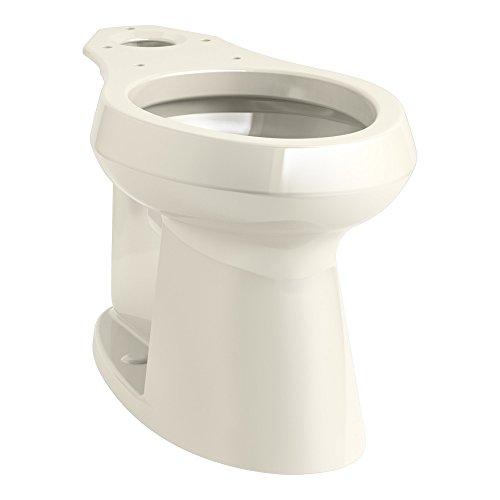 Highline Toilet 47 Bowl - KOHLER K-80020-47 Highline Concealed Trapway Comfort Height Elongated Bowl, Almond