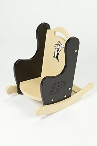 Kids Rocking Chair, Wooden Rocking Chair - Purdue University by South Bend Woodworks