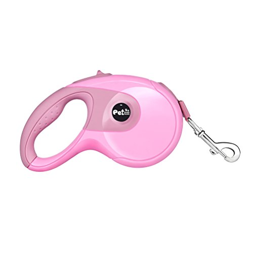 G-zebra Retractable Dog Leash,10ft/16ft Dog Walking Leash Nylon Ribbon Extends for Small, Medium and Large Dogs up to 110lbs (Pink Ribbon Dog Leash)