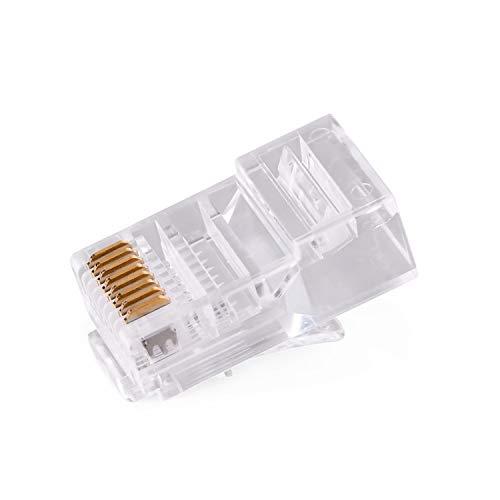 CAT5 RJ45 Plug Connector FTP 8P8C Modular Network Plug Connector 50set (Cat5/UTP)