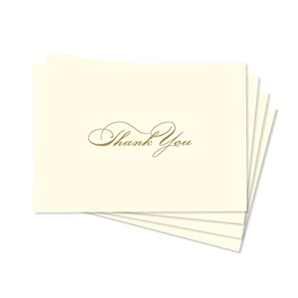 amazon com gartner studios 86195 gold foil thank you cards 50ct