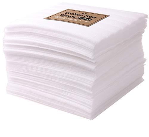 Tenby Living - Juego de sábanas de espuma de calidad superior, 80 unidades, precortadas, 30,5 x 30,5 cm, para envolver en...