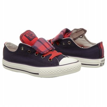 Converse Girls' Chuck Taylor All Star Double Tongue Casual S