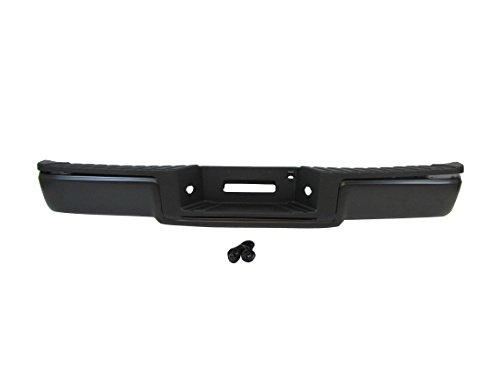 Rear Step Bumper Black Bar Pad License Lamp 2006-2008 Ford F150 Pickup W/O Sensor Hole